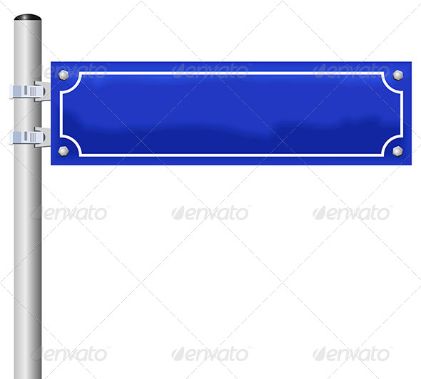 GraphicRiver Blank Street Name Sign 6724251