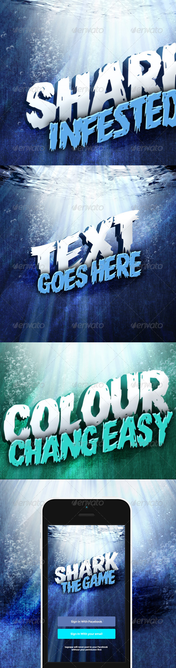 GraphicRiver 3D Underwater Text Mockup 6724278