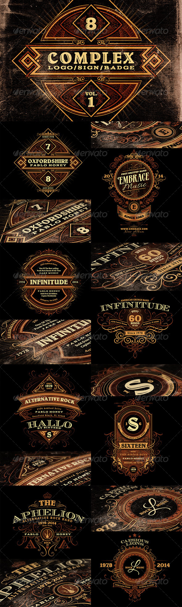 GraphicRiver Complex Logos Signs Badges v.1 6724282