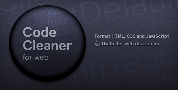 CodeCanyon Code Cleaner for Web HTML CSS and JavaScript 6724433