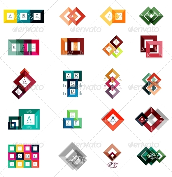 GraphicRiver Huge Set of Square Infographic Templates #2 6724615