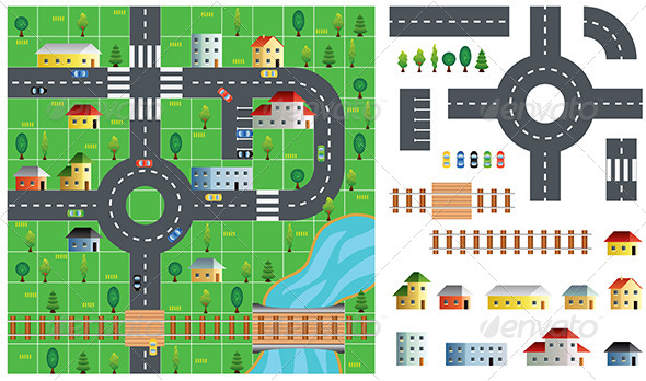 GraphicRiver City Map Toolkit Vector Illustration 6724868