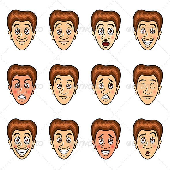 GraphicRiver Man s Emotions Cartoon Set 6724874