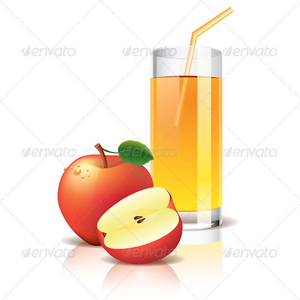 GraphicRiver Apple Juice Illustration 6724941
