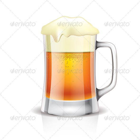 GraphicRiver Beer Mug Isolated on White 6724945
