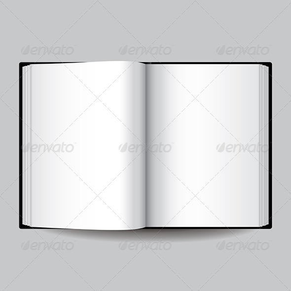 GraphicRiver Black Opened Book 6724951