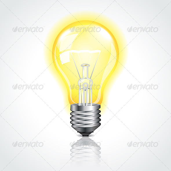 GraphicRiver Glowing Lightbulb Vector Illustration 6724959