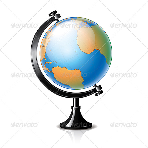 GraphicRiver Globe Isolated on White Vector 6725002