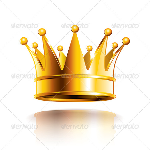 GraphicRiver Glossy Golden Crown Vector Illustration 6725011