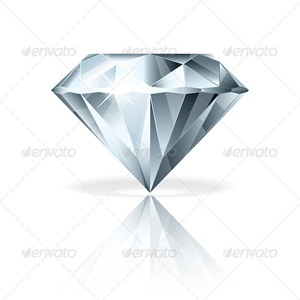 GraphicRiver Diamond Isolated on White Vector Illustration 6725030