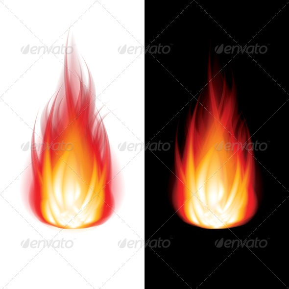 GraphicRiver Fire on Black and White Background Vector 6725038
