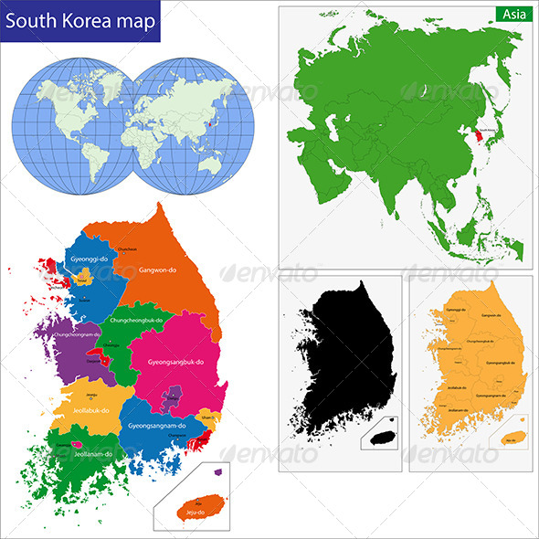 GraphicRiver South Korea Map 6725106