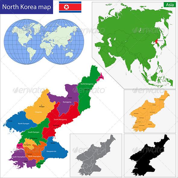 GraphicRiver North Korea Map 6725129
