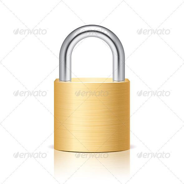 GraphicRiver Metal Padlock 6725204