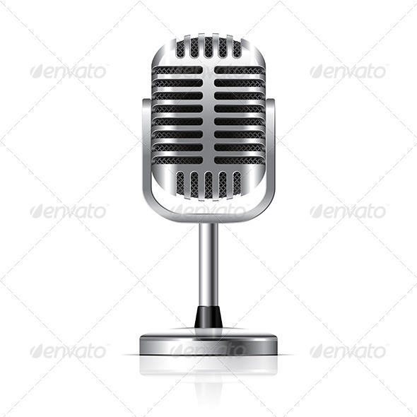 GraphicRiver Retro Microphone 6725275