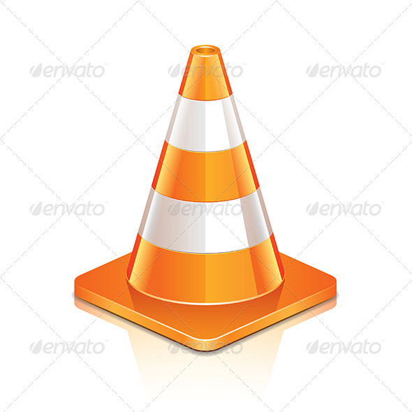 GraphicRiver Road Cone 6725283