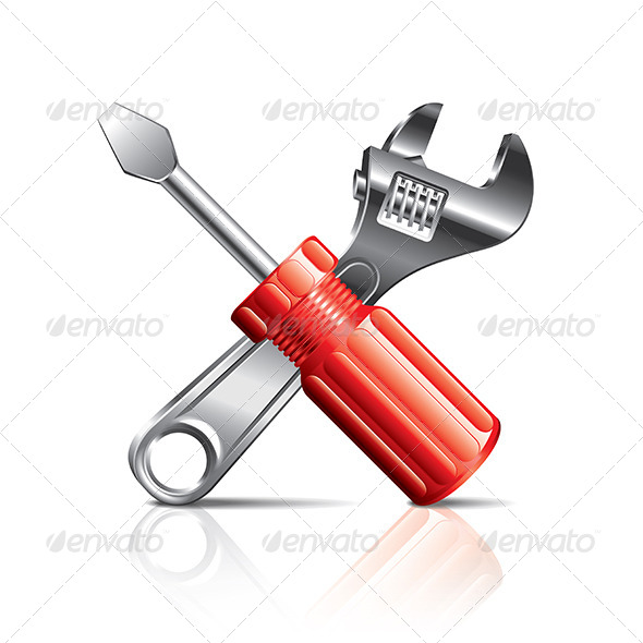 GraphicRiver Screwdriver and Wrench Tool Icon 6725296