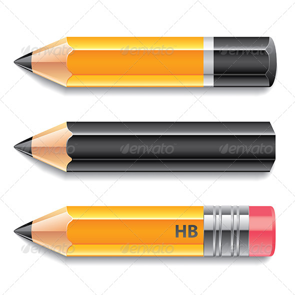 GraphicRiver Three Pencils 6725315