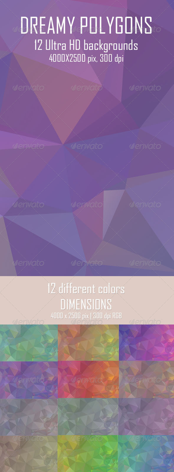 GraphicRiver Dreamy Polygon Backgrounds 6725357