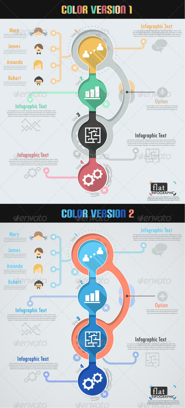 GraphicRiver Flat Infographic Banner Two Versions 6725759
