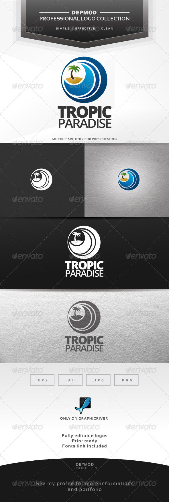 GraphicRiver Tropic Paradise Logo 6725850