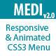 MEDI -  Responsive & Animated CSS3 Menu