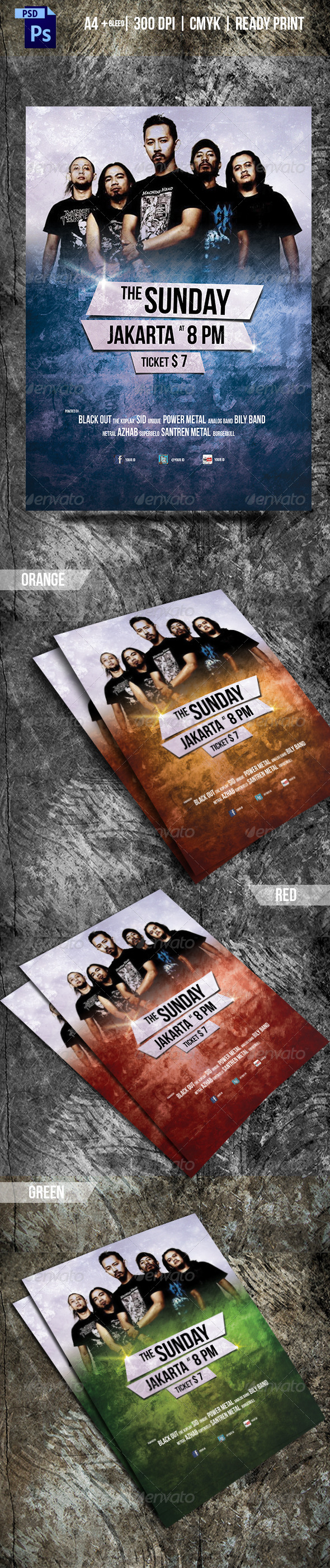 GraphicRiver Simple Rock Concert Flyer 6726031
