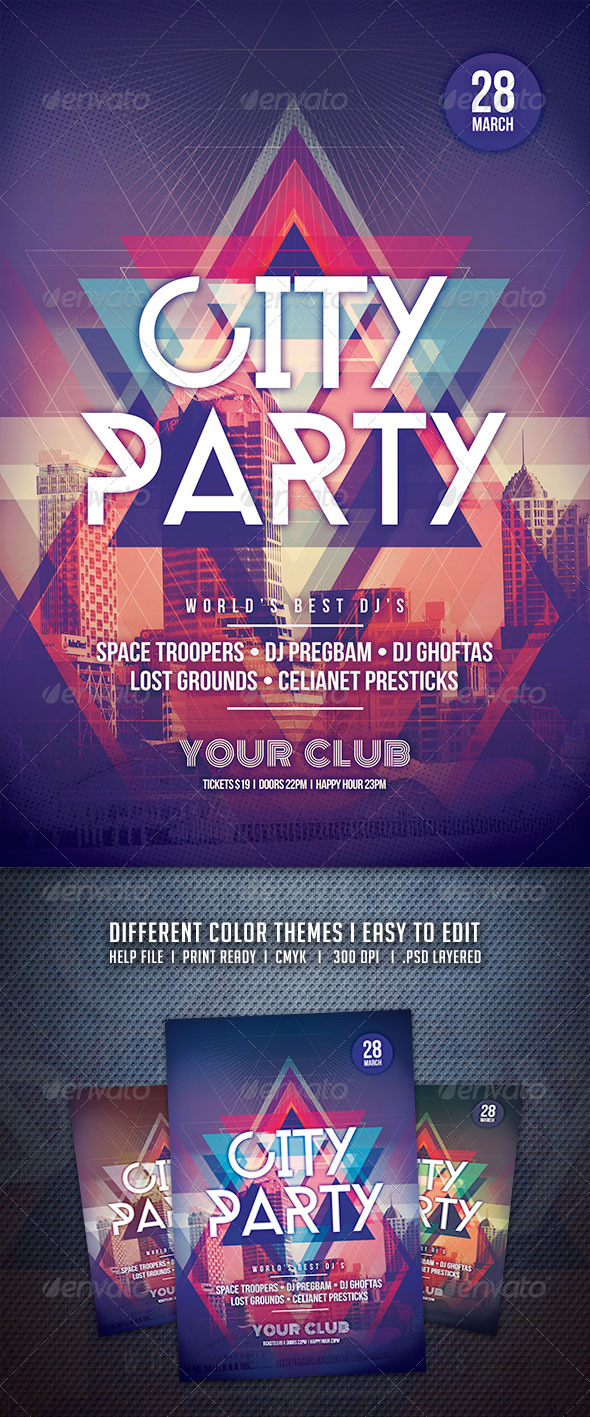 GraphicRiver City Party Flyer 6726179