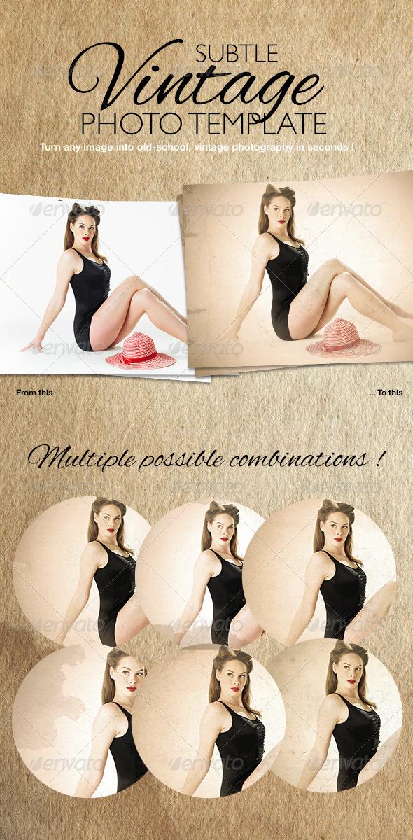 GraphicRiver Subtle Vintage Photo Template 6726356