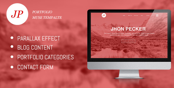 JP Portfolio One page | Muse Template