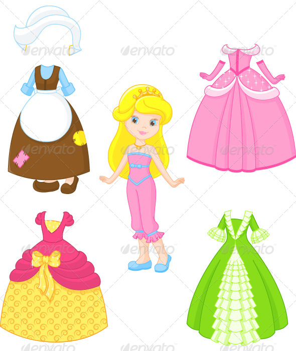 GraphicRiver Cinderella Dresses 6726430