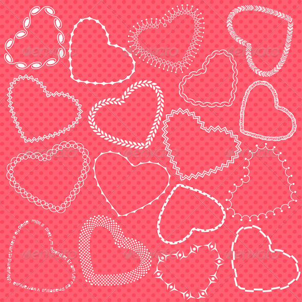 GraphicRiver Decorative Valentine Hearts 6726509