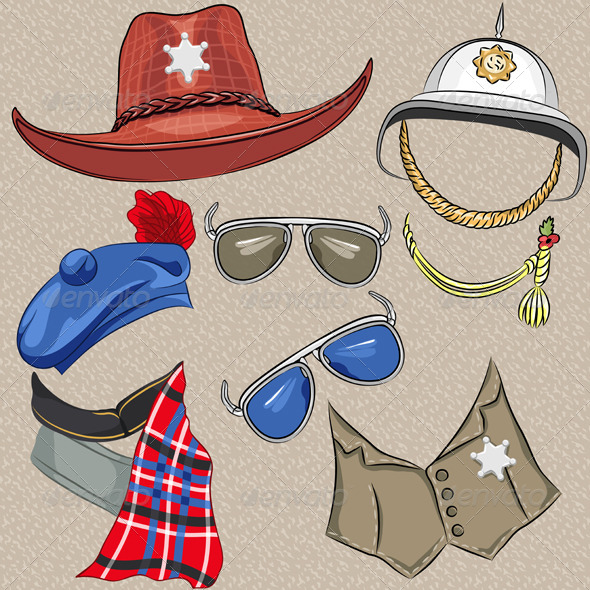 GraphicRiver Set of Military and Sheriff Accessories 6726616
