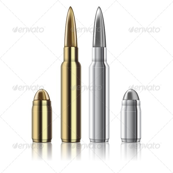 GraphicRiver Rifle and Pistol Bullets 6720055
