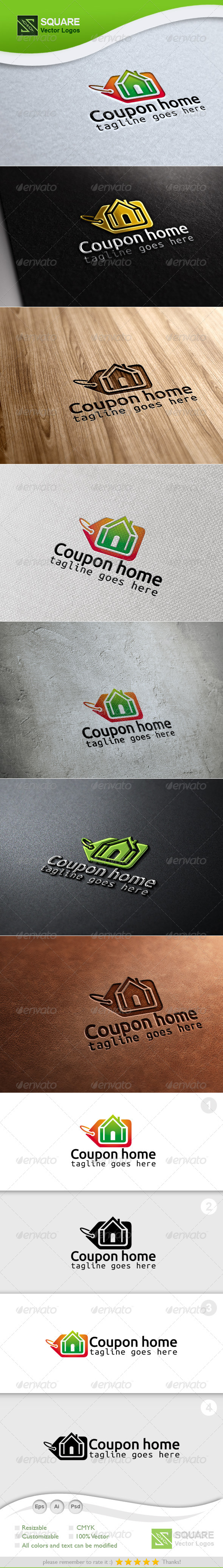 GraphicRiver Coupon Home Vector Logo Template 6726738