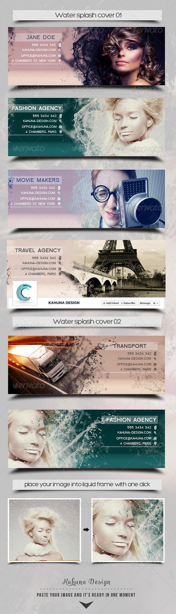 GraphicRiver Water Splash FB Cover 6726807