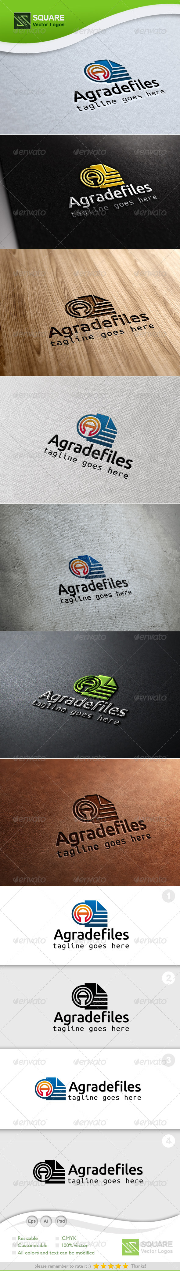 A, Files Vector Logo Template - Letters Logo Templates