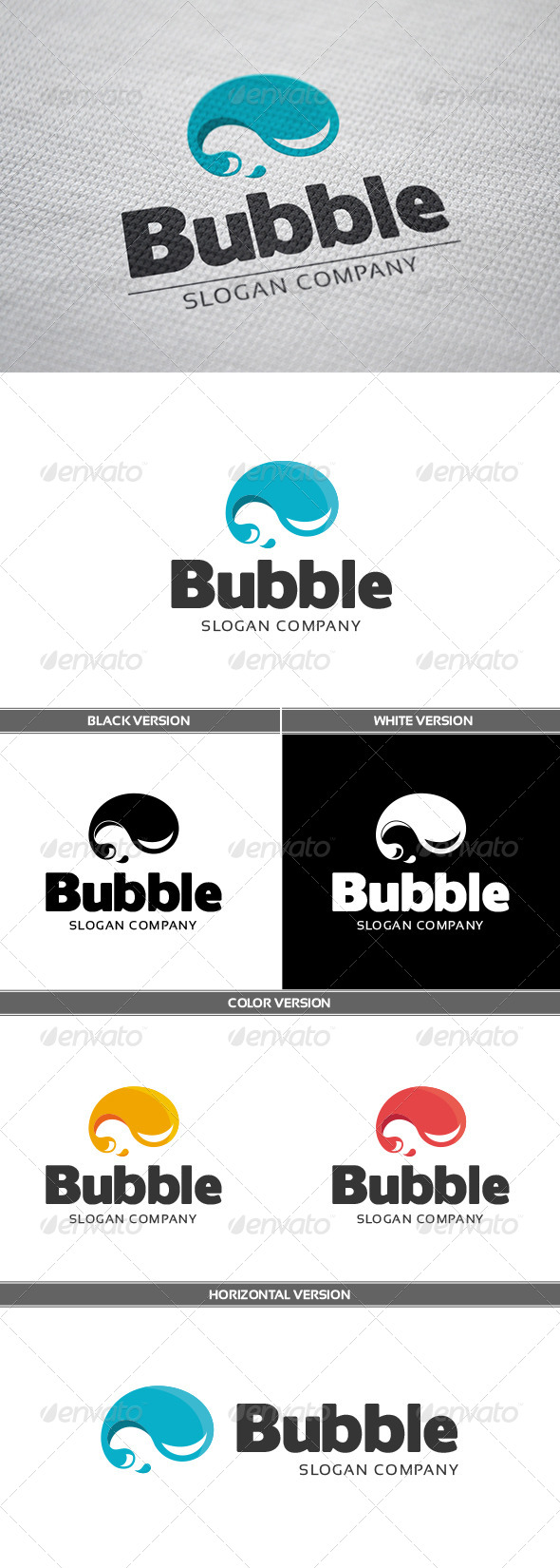 GraphicRiver Bubble Logo 6726876