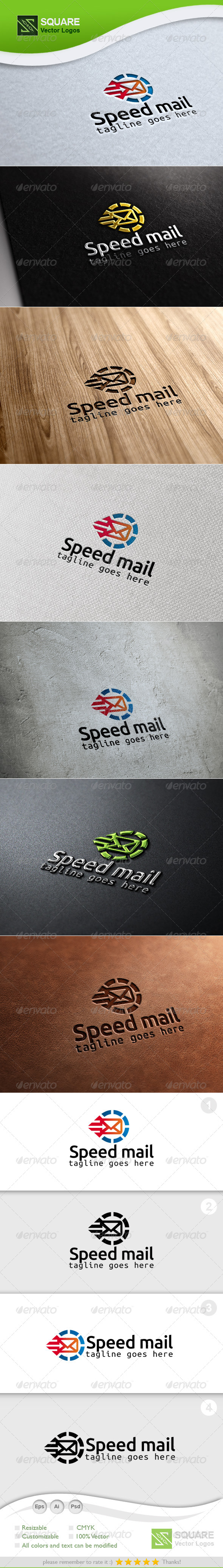 Speed Mail Vector Logo Template