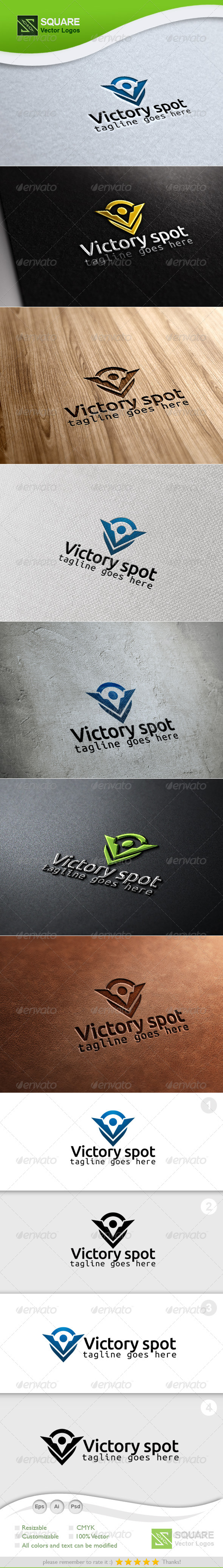 V, Locator Vector Logo Template - Letters Logo Templates