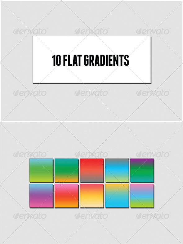 GraphicRiver 10 Flat Colors Gradients 6727015