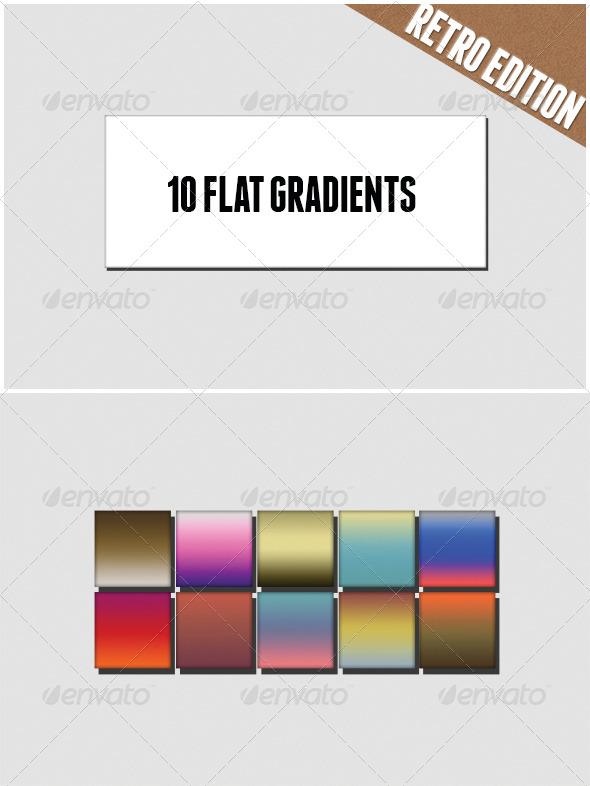 GraphicRiver Flat Retro Colors Gradients 6727028