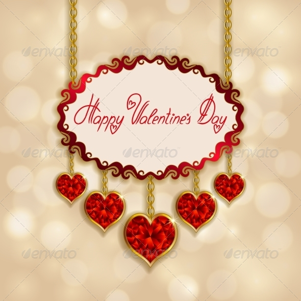 GraphicRiver Hearts from Ribbon Valentine s Day Background 6727191