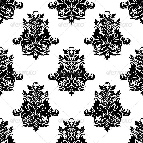 GraphicRiver Foliate Arabesque Motif Seamless Pattern 6727229