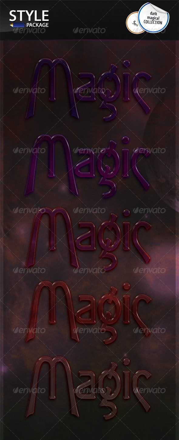GraphicRiver Dark Magical Styles 6727299