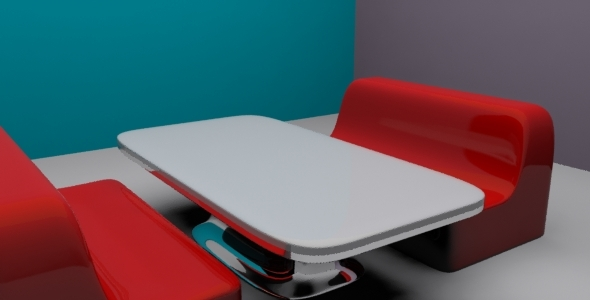 3DOcean 3D Diner Seat and Table 6727491