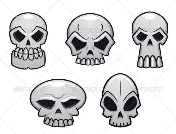 GraphicRiver Different Human Skulls for Halloween 6727558