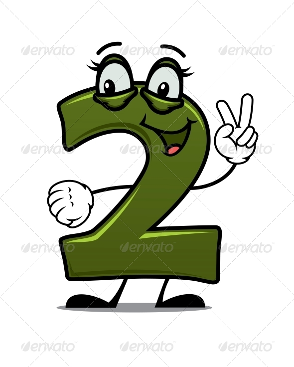 GraphicRiver Number Two Cartoon Image 6727559