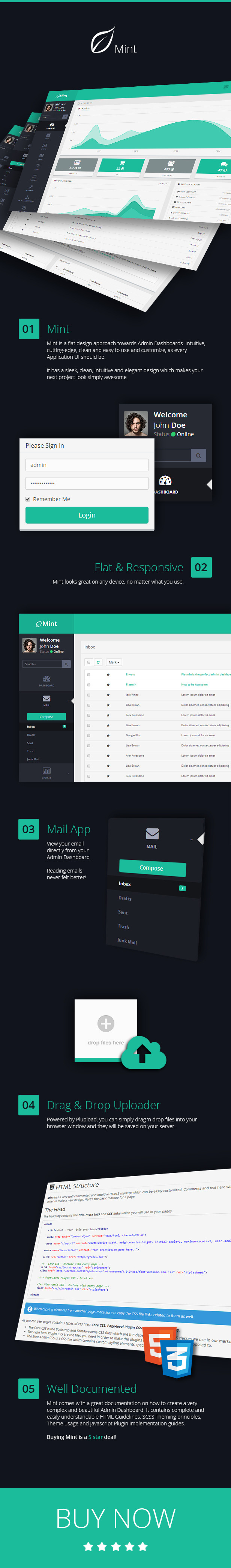 Mint - Flat & Responsive Admin Dashboard Template