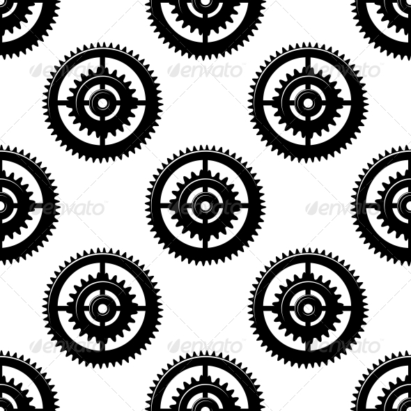 GraphicRiver Gears and Pinions Seamless Pattern 6727693